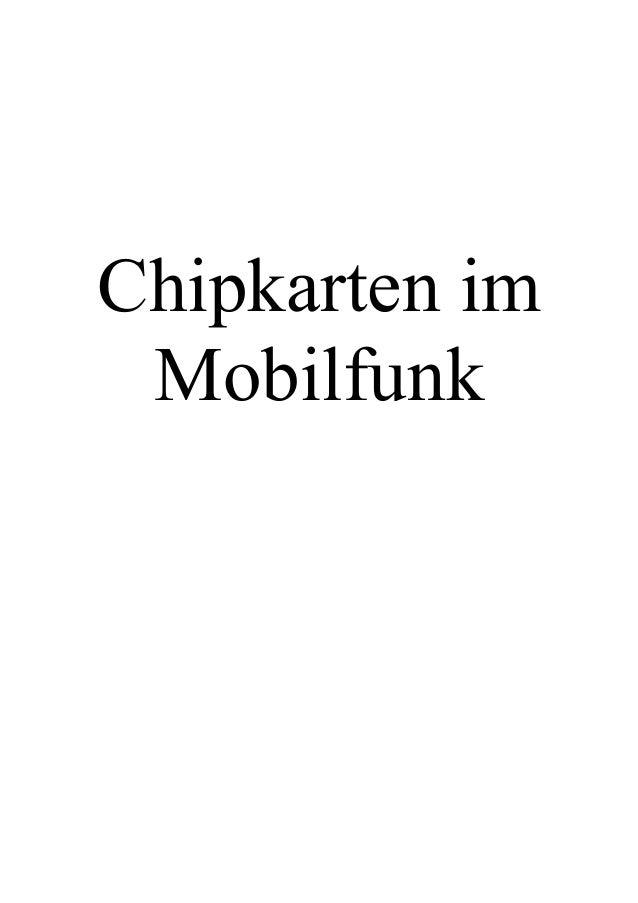 Chipkarten im Mobilfunk