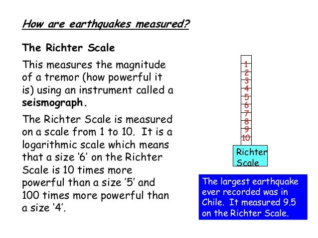 richter scale worksheet