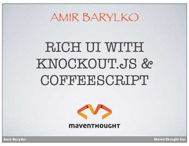 Rich UI with Knockout.js & Coffeescript