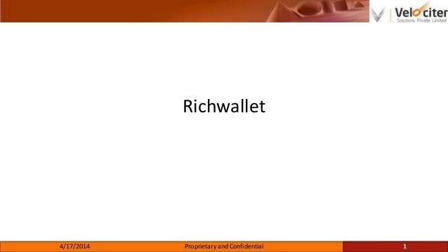 Velociter Case Studies (Richwallet)