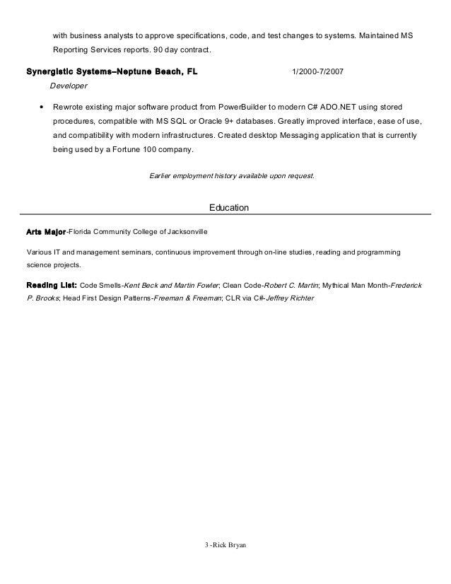 rick bryan resume