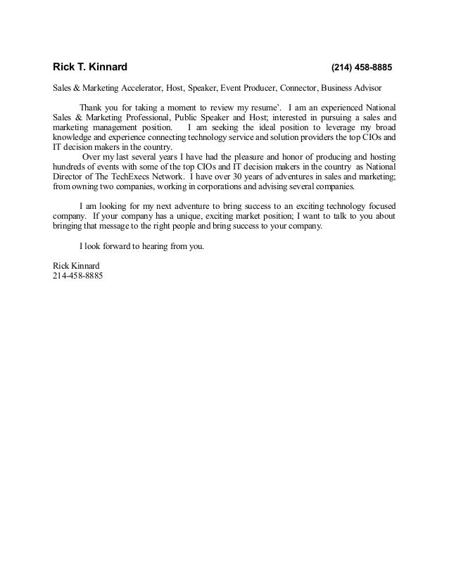 Rick T. Kinnard                                                             (214) 458-8885Sales & Marketing Accelerator, H...