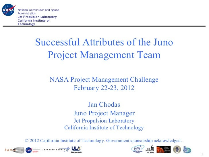 National Aeronautics and Space                                                          Juno ProjectAdministrationJet Prop...