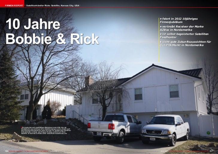 Firmen Report                        Satellitenhändler Ricks Satellite, Kansas City, USA10 Jahre                          ...