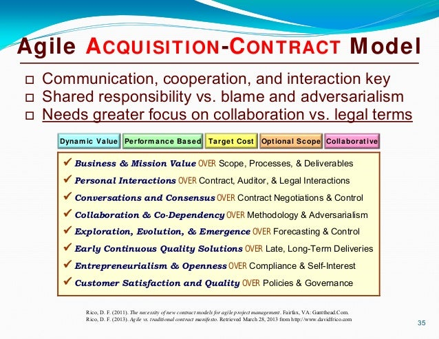 Contract Models For Agile