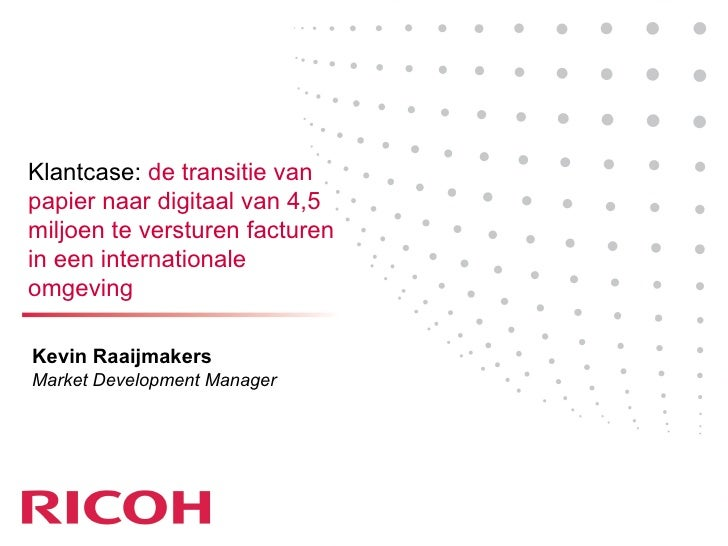 Ricoh Presentatie Factuurcongres 2009
