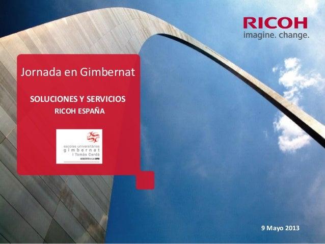 Ricoh empresa de producto a empresa de servicios 9 de mayo 2013