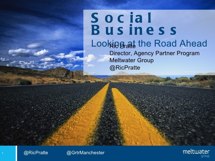 """Ric Pratte presents """"Social business, looking at the road ahead"""""""
