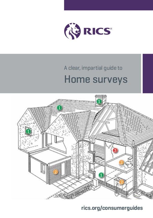 Rics home survey guide for Household survey design
