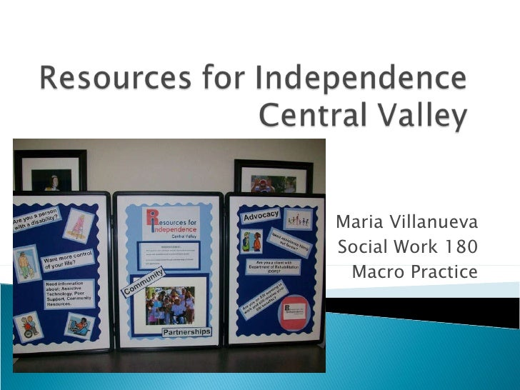Resources for Independence Central Valley