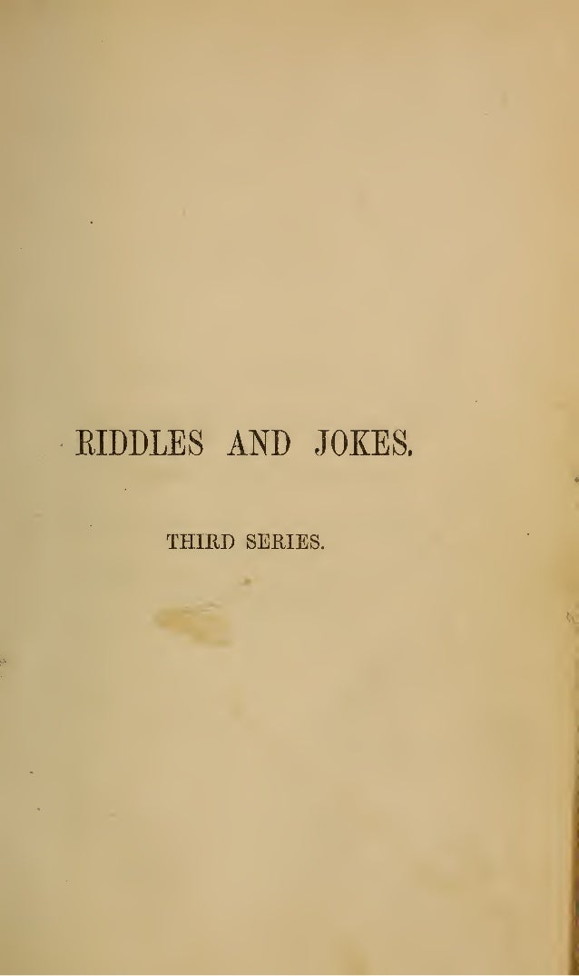 Riddles, Free eBook