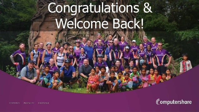 Congratulations & Welcome Back!
