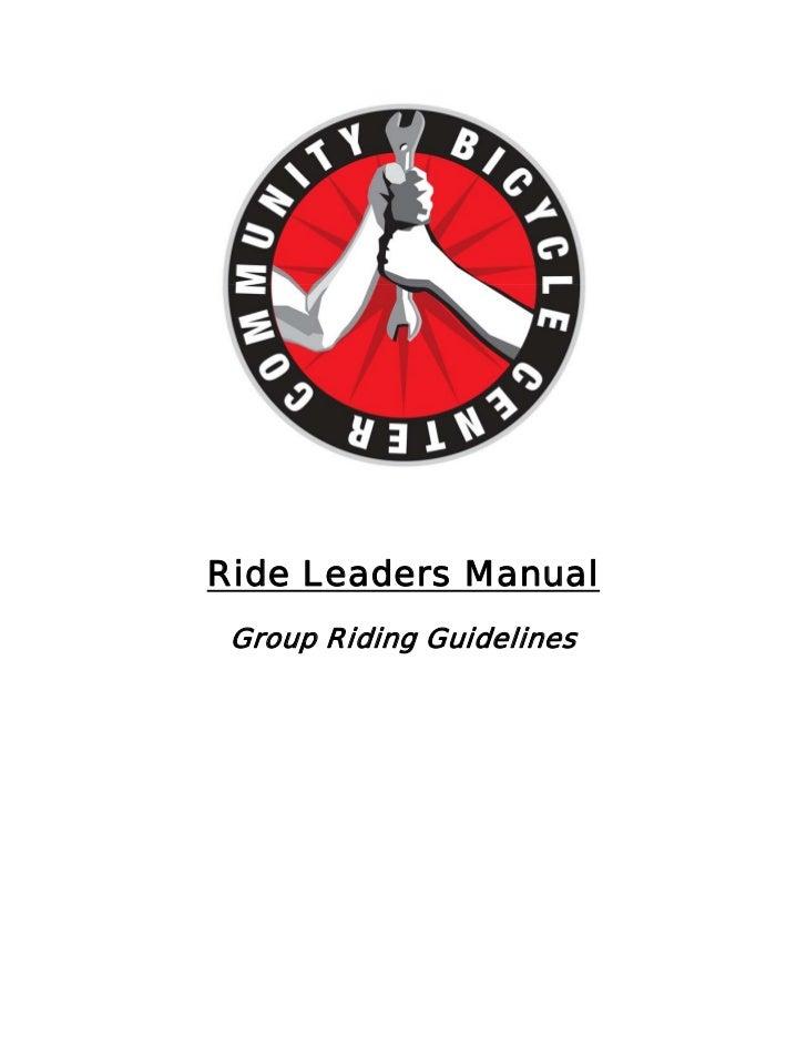 Bike and Walk to School Ride Leaders Manual