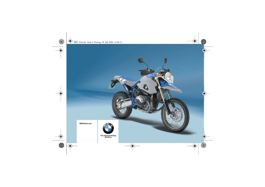 BMW Motorrad                    The Ultimate Riding                     Machine