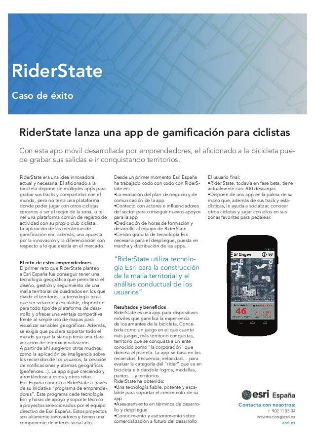 RiderState Caso de éxito  RiderState lanza una app de gamificación para ciclistas Con esta app móvil desarrollada por empr...