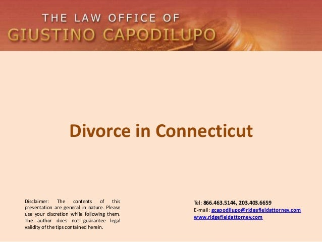 Divorce in Connecticut - The Law Office of Giustino Capodilupo
