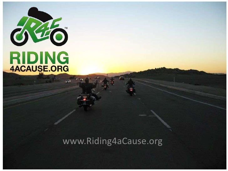 Riding For A Cause Concept