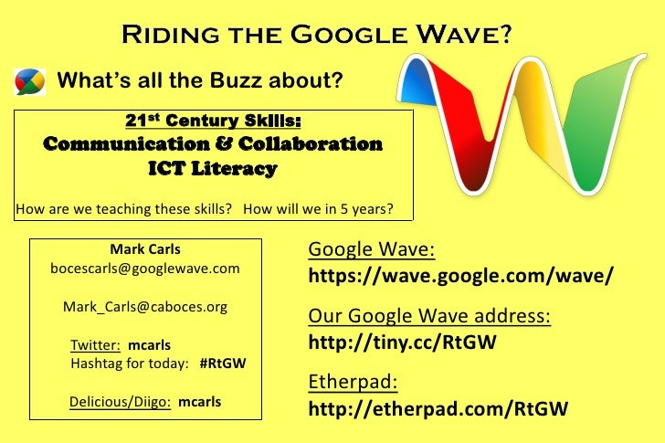 What's all the Buzz about?                 21 st   Century Skills:     Communication & Collaboration            ICT Litera...