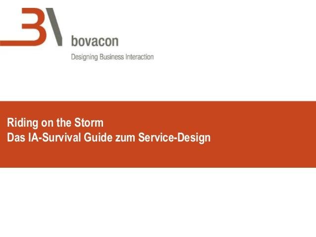 Riding on the Storm Das IA-Survival Guide zum Service-Design
