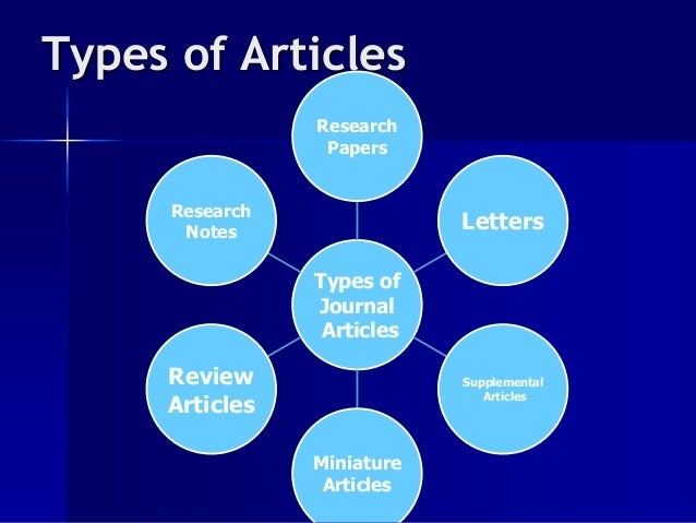 types or research papers