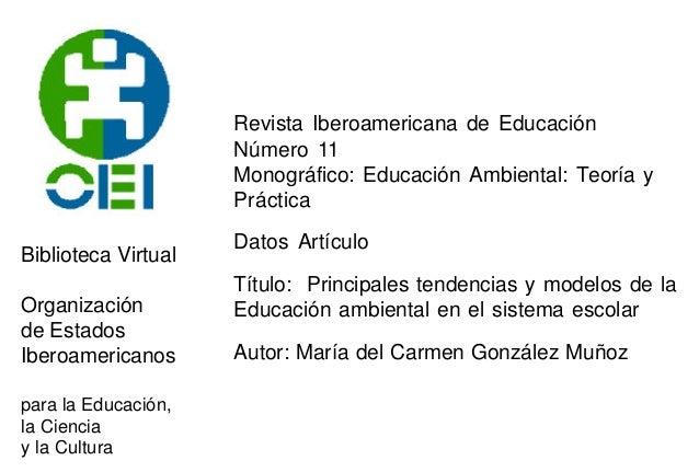 Biblioteca Virtual Organización de Estados Iberoamericanos para la Educación, la Ciencia y la Cultura Revista Iberoamerica...