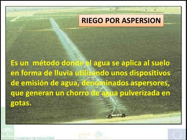 Riego por aspersion - Riego por aspersion ...