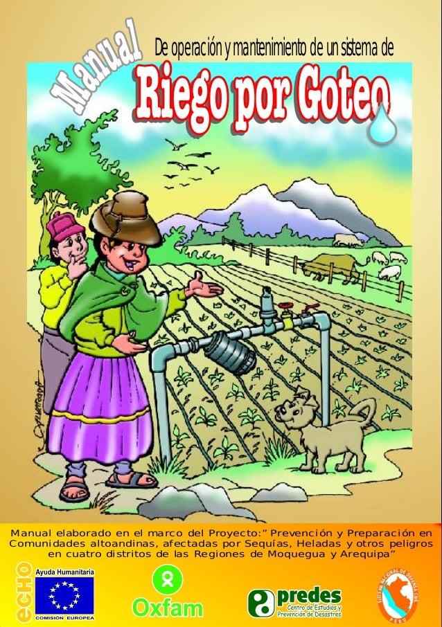Manual de riego por goteo en peque as comunidades - Manguera para riego por goteo ...