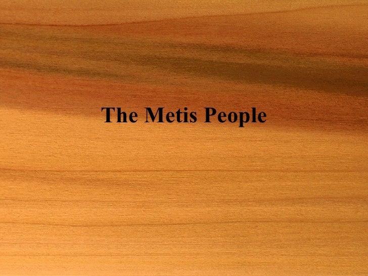 The Metis People