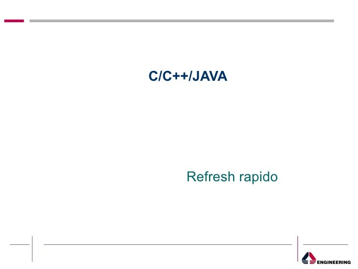 C/C++/JAVA Refresh rapido