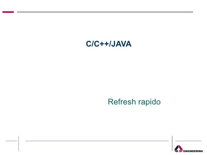 Riepilogo Java C/C++