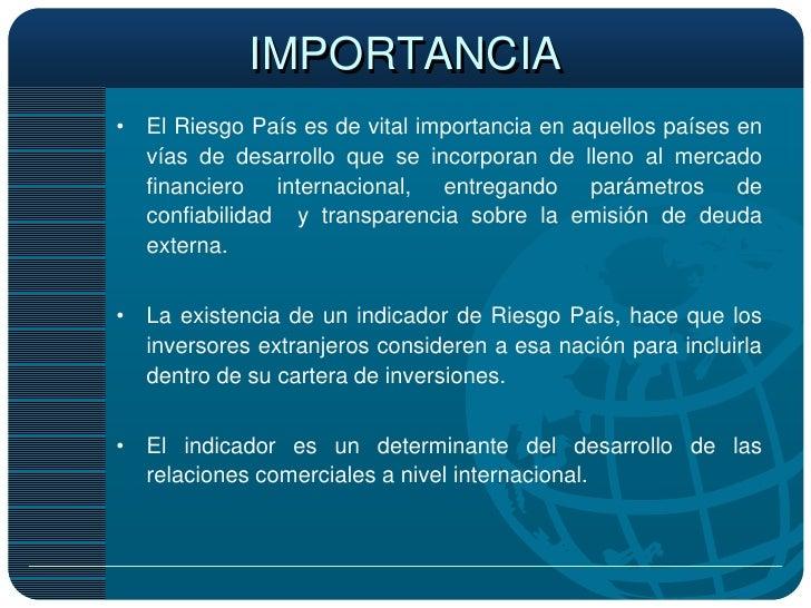 Riesgo Pais Peru Y El Comercio Internacional