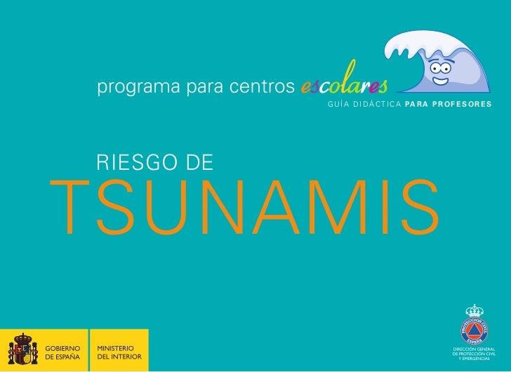 Riesgo de tsunamis. programa para centros+escolares