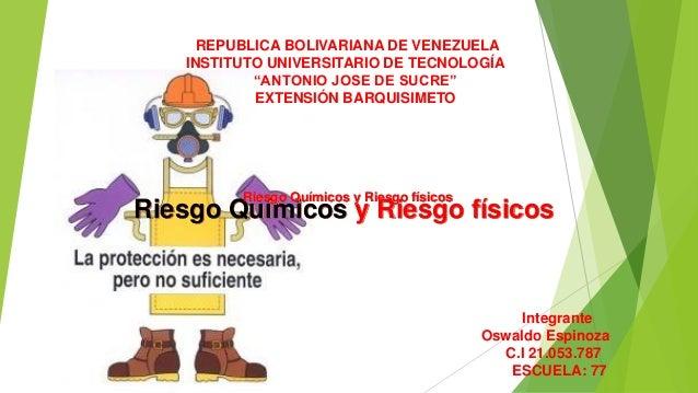 """REPUBLICA BOLIVARIANA DE VENEZUELA INSTITUTO UNIVERSITARIO DE TECNOLOGÍA """"ANTONIO JOSE DE SUCRE"""" EXTENSIÓN BARQUISIMETO Ri..."""