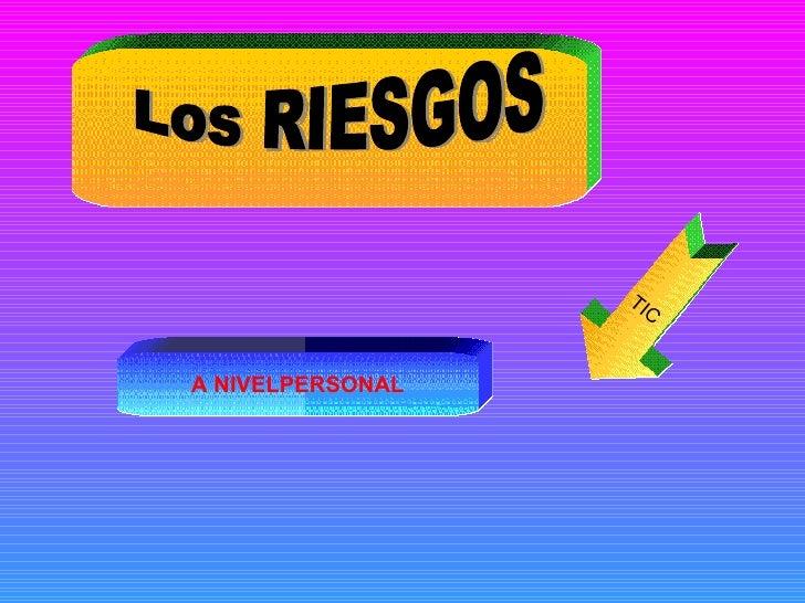 RIESGOS PERSONALES