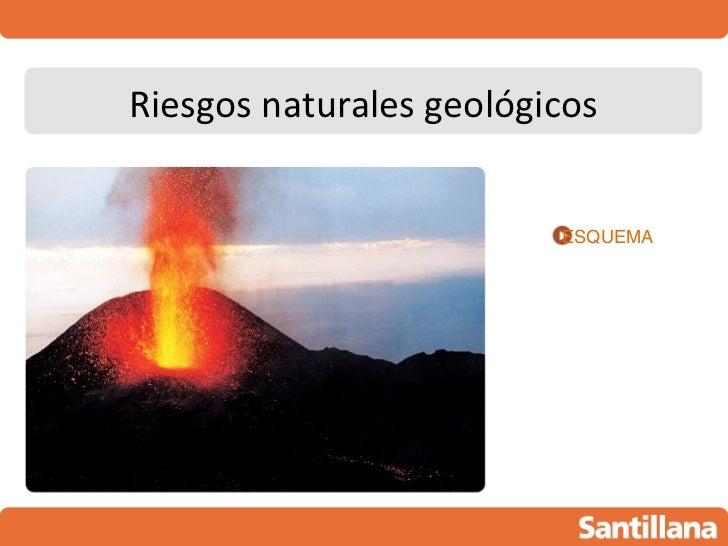 Riesgos naturales geológicos                         ESQUEMA