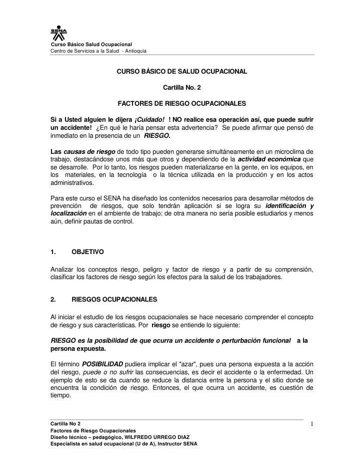Curso Básico Salud OcupacionalCentro de Servicios a la Salud - Antioquia                            CURSO BÁSICO DE SALUD ...
