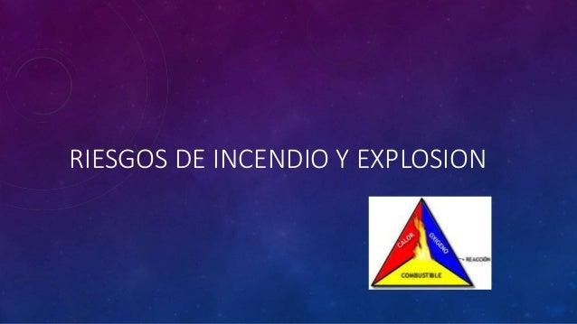 RIESGOS DE INCENDIO Y EXPLOSION