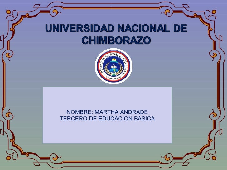 NOMBRE: MARTHA ANDRADE TERCERO DE EDUCACION BASICA