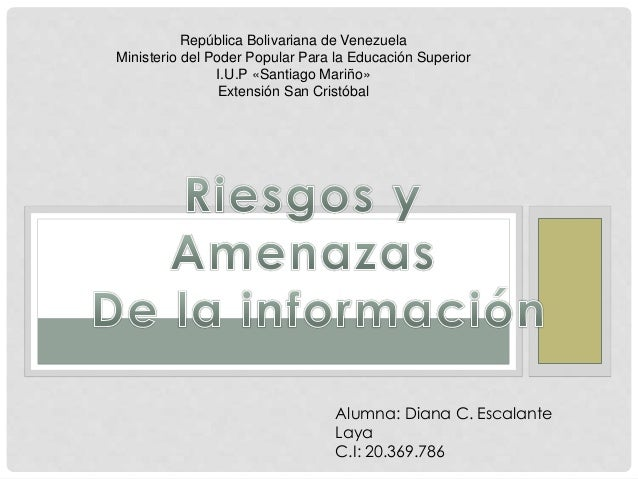 República Bolivariana de Venezuela Ministerio del Poder Popular Para la Educación Superior I.U.P «Santiago Mariño» Extensi...
