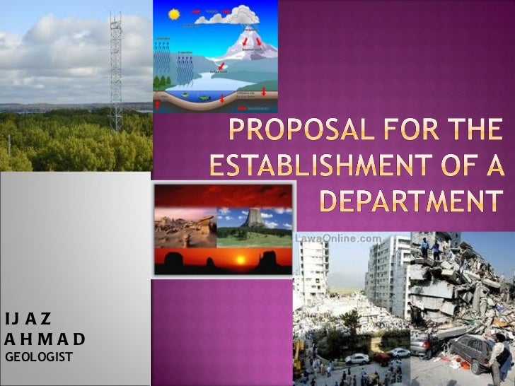 Proposal for Geological and Meteorological Sciences