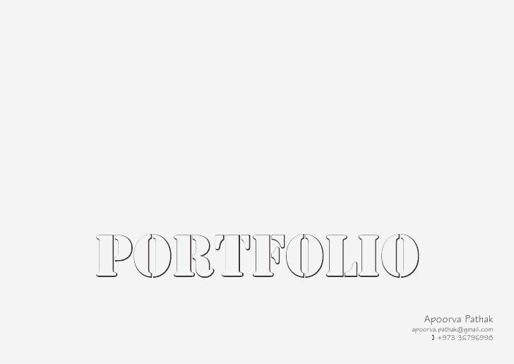 portfolio            Apoorva Pathak        apoorva.pathak@gmail.com              ( +973 36796998
