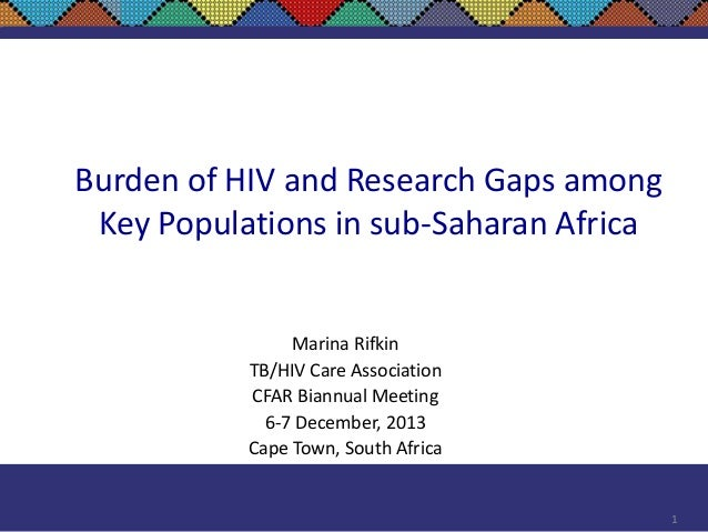 Burden of HIV and Research Gaps Among Key Populations in Sub-Saharan Africa
