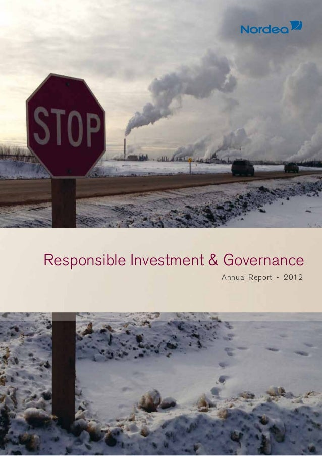 Responsible Investment & GovernanceAnnual Report • 2012