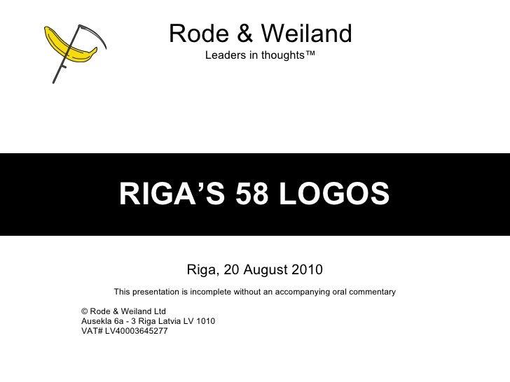 Riga's 58 logos