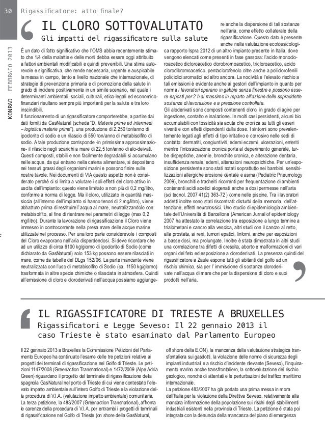 '    30               Rigassificatore: atto finale?                                IL CLORO SOTTOVALUTATO                   ...