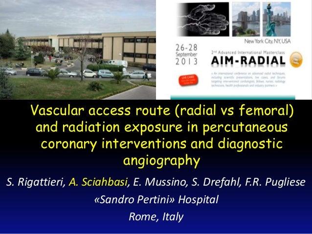 Sciahbasi A - AIMRADIAL 2013 - Radiation exposure