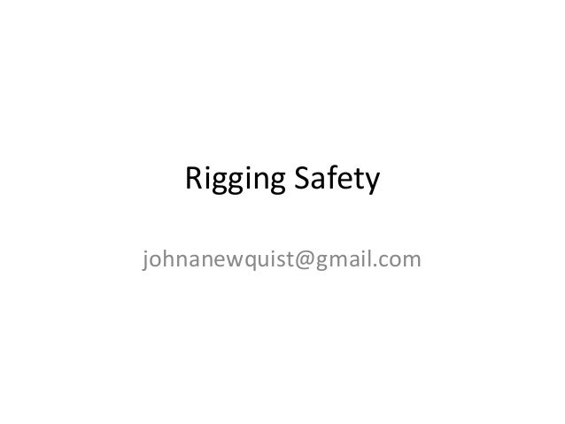 Rigging safety 7