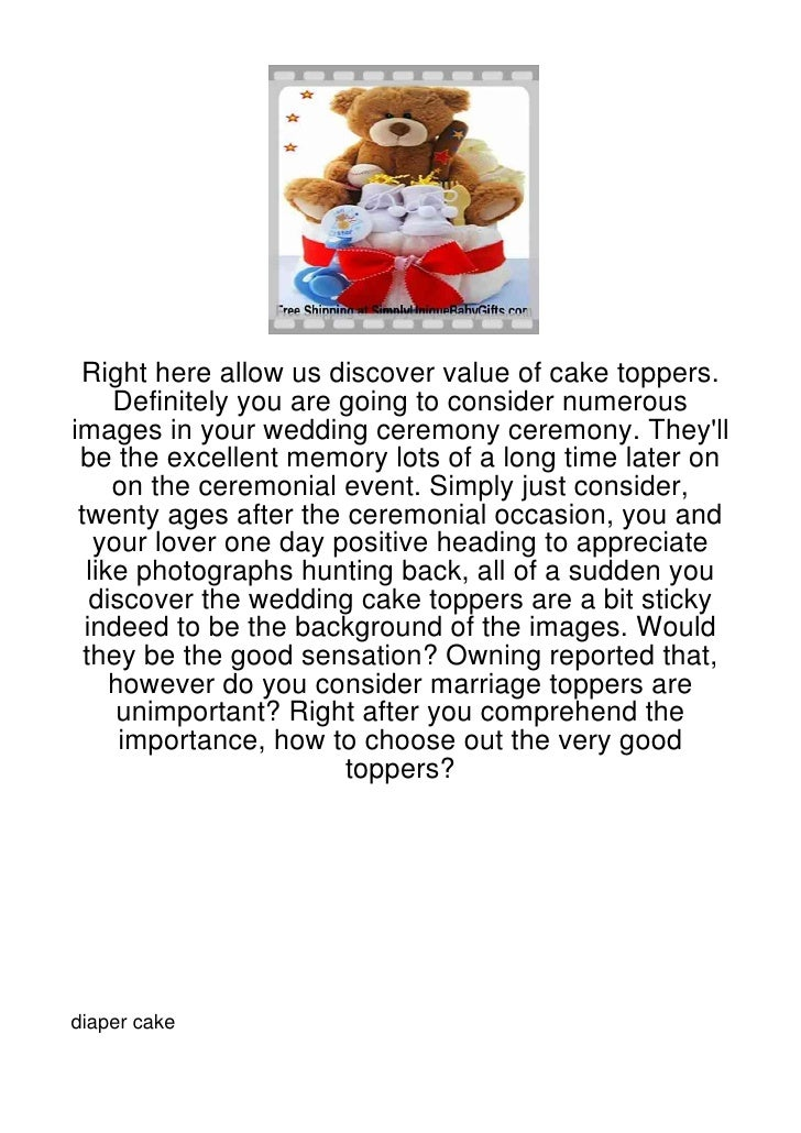 Right here allow us discover value of cake toppers.     Definitely you are going to consider numerousimages in your weddin...