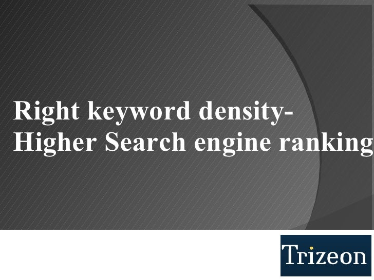 Right keyword density