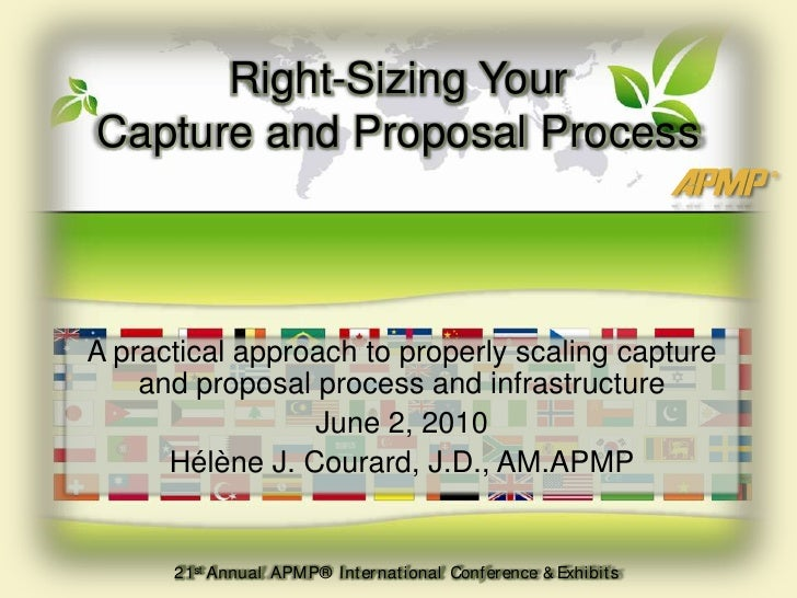 Right-Sizing Your Capture and Proposal Process<br />A practical approach to properly scaling capture and proposal process ...